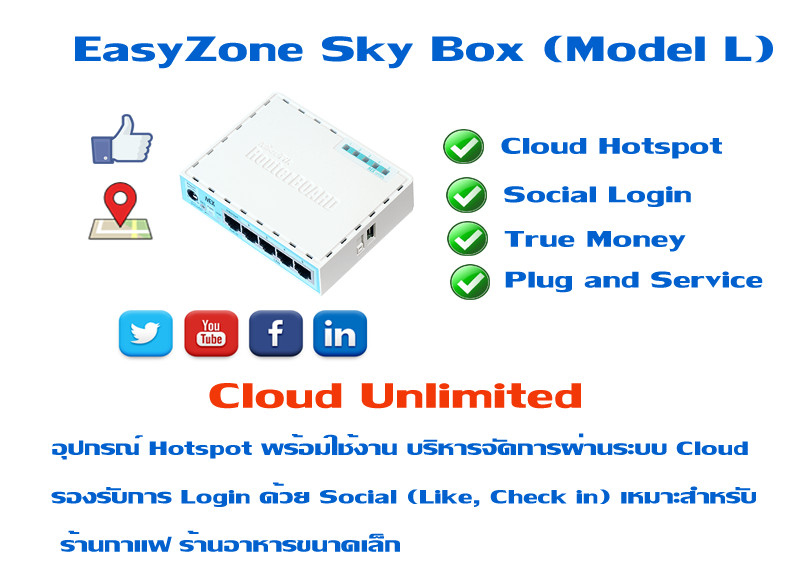 EasyZone Sky Box (Model L)  8,900 �ҷ (Unlimited Actived Users)