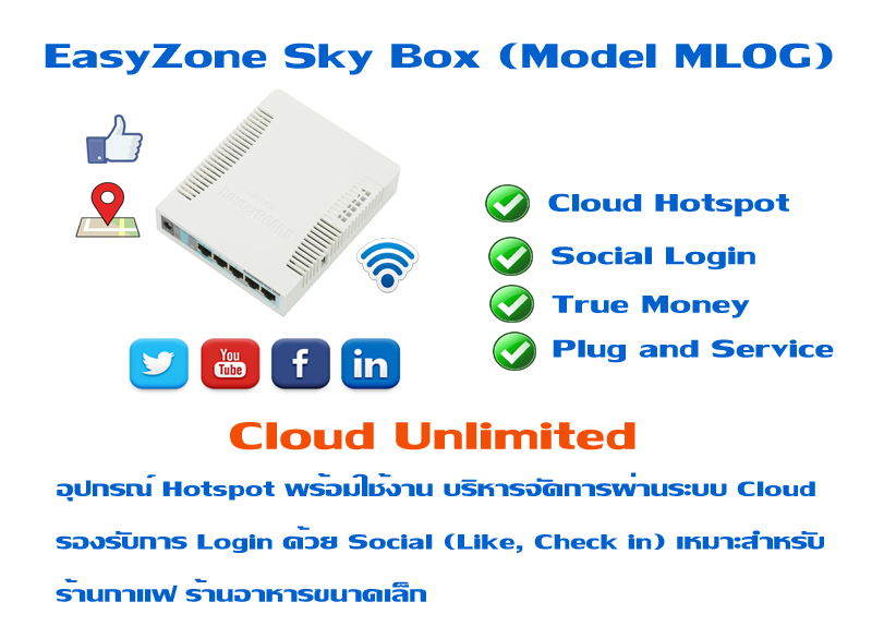 EasyZone Sky Box (Model MLOG) 9,500 �ҷ �Ѵ�� �� Cloud Unlimited Cloud Billing